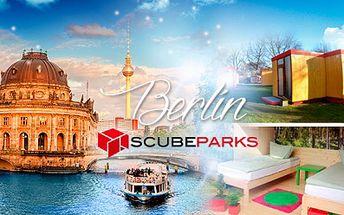 TŘI DNY v Berlíně s neobvyklým ubytováním ve Scube Parku PRO DVA! Ubytování, které jste ještě nezažili!