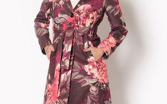 Dámský kabát s barevnými květinami Santa Barbara