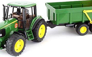 Traktor s vlečkou John Deere měřítko 1:16