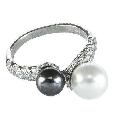 Dámský prstýnek se dvěma perlami Cerruti 1881