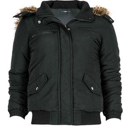Dámská bunda s kožíškem