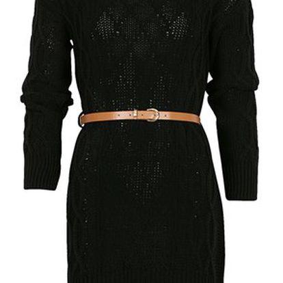 Dámské šaty s páskem