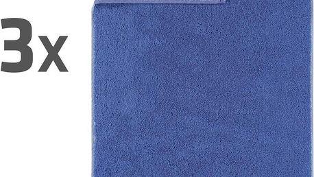 Ručníky JOOP! Plaza Doubleface Azur 50x100 cm, sada 3 ks, 3 ks 50 x 100