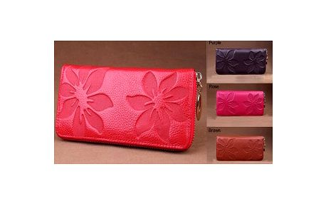 Dámská peněženka z pravé kůže v 5 módních barvách