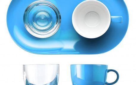 Dárkový set – Espresso šálek, sklenka na vodu a duální podšálek.