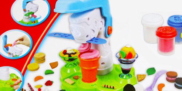 Set modelíny se strojkem na modelování zmrzliny. Skvělý dárek pro děti!