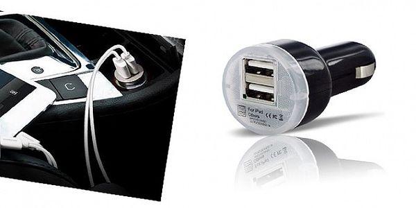Kompaktní univerzální USB nabíječka s dvěmi USB vstupy USBTX-013 do cigaretového zapalovače (12 V / 24 V)