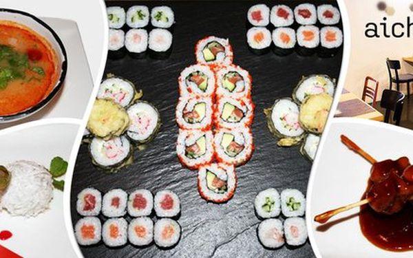 Vánoční menu plná sushi a japonských delikates