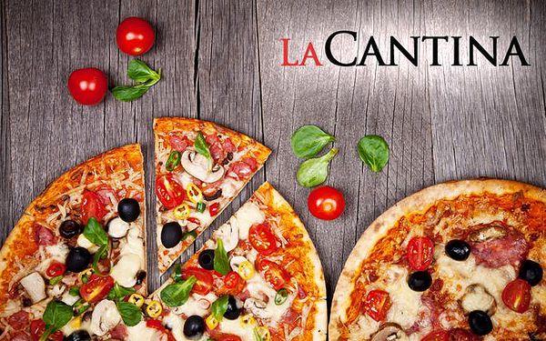 2x pizza z pravé kamenné pece dle výběru v Liberci v pizzerii La Cantina