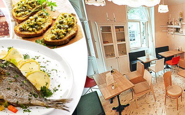 Středomořské menu pro dva v restauraci Olive Point