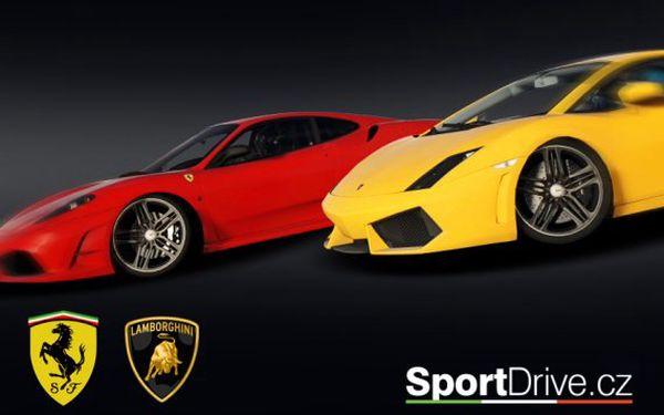 Jízda ve Ferrari nebo Lamborghini – 30 minut
