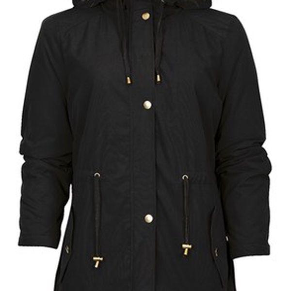 Dámský kabát s umělou kožešinou