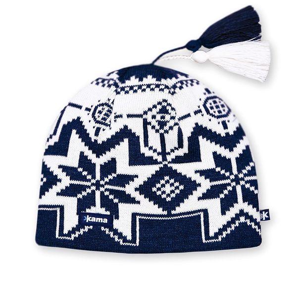 Pletená čepice KAMA A22 v norském stylu ze 100% vlny