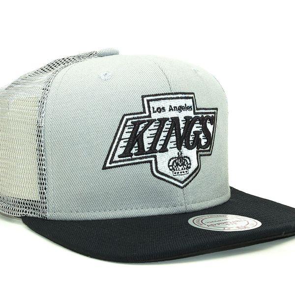 Kšiltovka Mitchell & Ness Untruck Los Angeles Kings Grey Snapback šedá / černá / vícebarevné