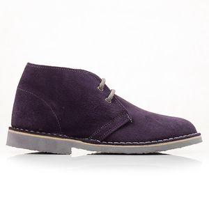 Dámské fialové kotníkové boty s tkaničkami Roamers