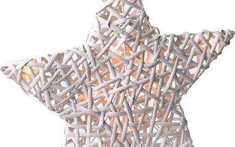 Solight hvězda s LED diodami vánoční ratanová,