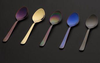 Herdmar Kávové lžičky Oslo Coffee Spoons PVD mix, barevný kov, sada 6 ks