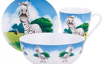 Dětská jídelní sada porcelánová 3 ks ZEBRA Orion