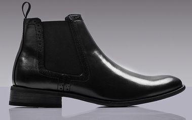 Pánské černé chelsea boty ROUTE21