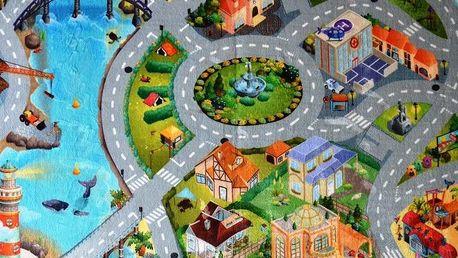 Vopi Dětský koberec Ultra Soft Město, 70 x 100 cm