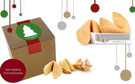 12 kusů smartcookies s ukrytým vánočním přáníčkem uvnitř