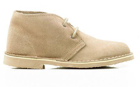 Dámské béžové kotníkové boty s tkaničkami Roamers