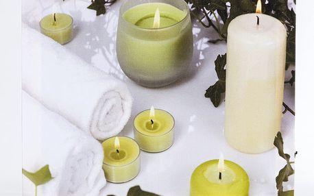 Svítící obraz svíčky , zelený