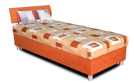 Čalouněná postel 120x200 cm BLANÁŘ George (oranžová)
