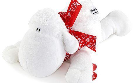 Sladká plyšová ovečka s červenou mašlí z kolekce Sheepworld
