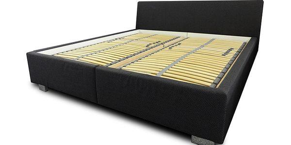 Dvoulůžková postel s polohovacím roštem BLANÁŘ Milano - 180x200 cm