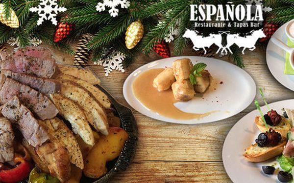 Tříchodové španělské zimní menu pro dva