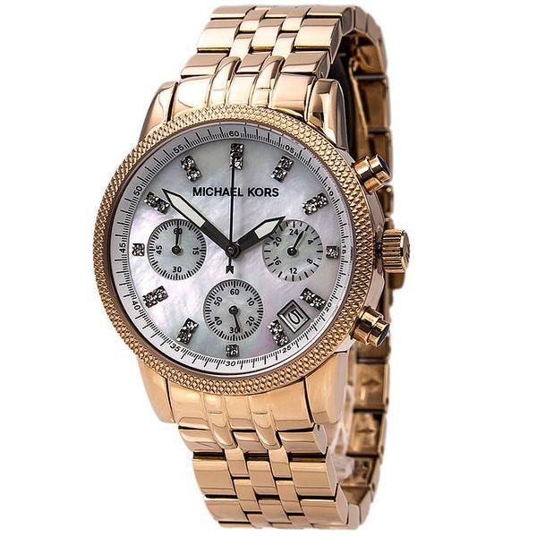 Dámské pozlacené hodinky s luminiscenčními ručičkami Michael Kors