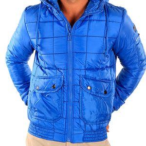 Pánská modrá prošívaná bunda New Caro