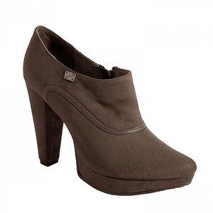 Hnědé boty na podpatku Red Hot