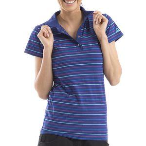 Dámské tmavě modré pruhované polo tričko Alpine Pro