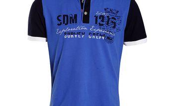 Pánské modré polo tričko Signore dei Mari