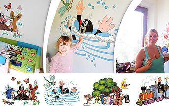 Vyzdobte zdi pokojů obrázky Krtečka podle šablony