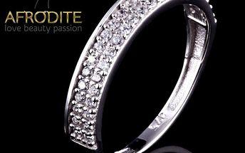Dámský stříbrný prsten se zirkony Afrodite
