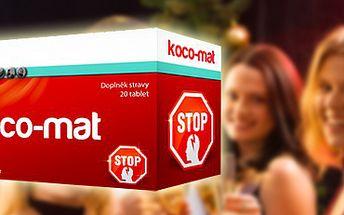 Koco-MAT: váš spolehlivý ochránce před kocovinou! Čistě přírodní produkt.