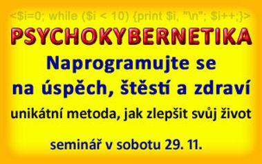 Psychokybernetika - naprogramujte se na úspěch, štěstí a zdraví (29.11.2014)