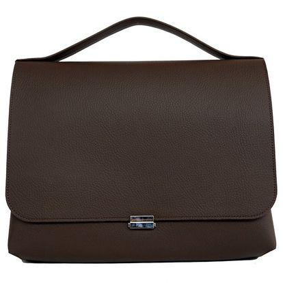 Dámské hnědá obdélníková kožená kabelka Bellemarie