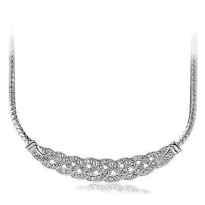 Dámský elegantní náhrdelník s bílými krystaly Mileyna Accesories