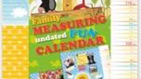 Krteček - měřící kalendář, 33 x 64 cm
