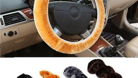 Chlupatý potah na volant - 4 barvy