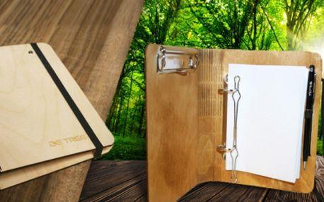 Dřevěný diář Woodbook n.1 s mechanizmem na vkládání listů papíru či kalendář! Každý kus originál!