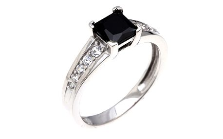 Dámský prsten s hranatým zirkonem Afrodite