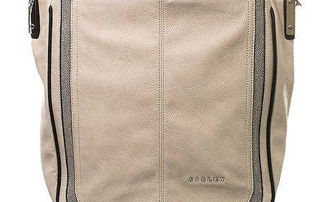 Dámská béžová kabelka s jedním poutkem Sisley