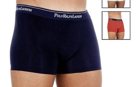 Set tří pánský boxerek Polo Ralph Lauren - modré, červené a bílé