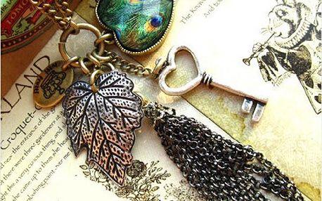 Vintage náhrdelník v bronzové barvě