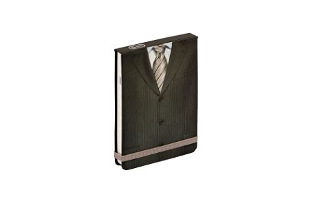 Men´s Tie, flip-pad notes - 13x9 cm, linkovaný
